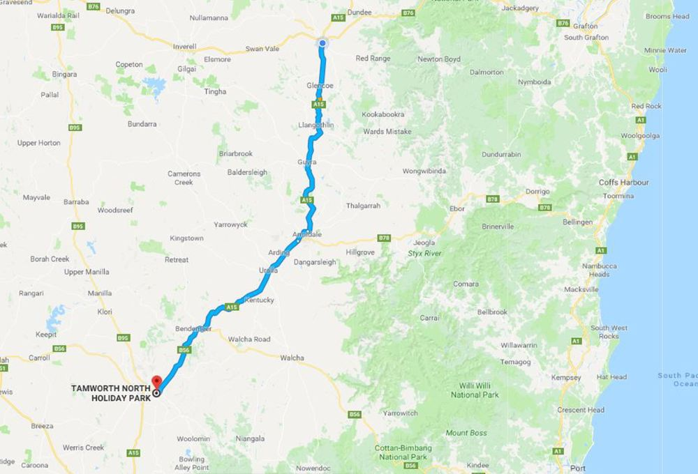 Tamworth to Glen Innes